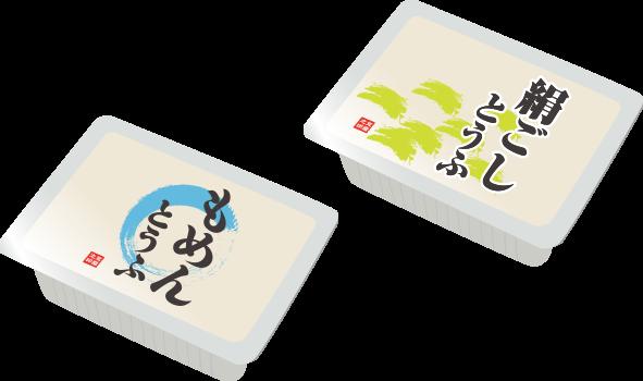 絹、木綿豆腐